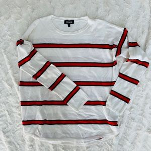 Express Crew-Neck Sweater Ivory Size L